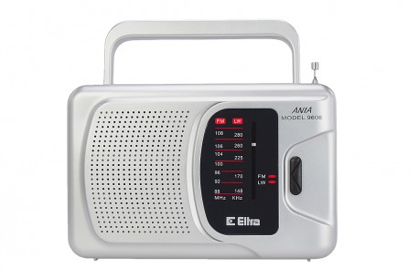 ANIA Odbiornik radiowy model 9608 srebrny