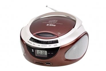 LILA Radioodtwarzacz CD MP3 USB SD model CD98USB czekoladowy