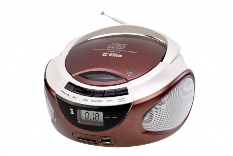 LILA Radioodtwarzacz CD MP3 USB SD model CD98USB czekoladowy