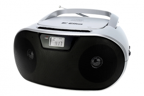 MASZA Radioodtwarzacz CD MP3 USB SD model CD92USB srebrny