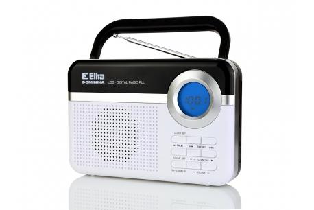 DOMINIKA Radio z cyfrowym strojeniem MP3 USB microSD model 471 srebrny