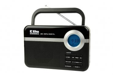 DOMINIKA Radio z cyfrowym strojeniem MP3 USB microSD model 471 czarny