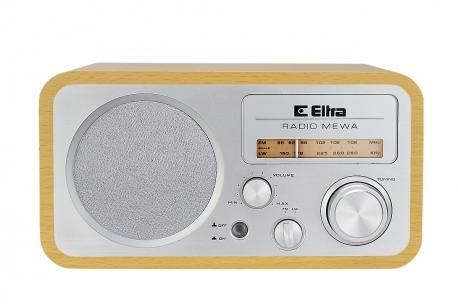 MEWA Odbiornik radiowy w drewnianej obudowie model 3388 srebrny