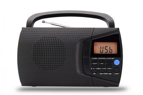DOMINIKA 2 Radio z cyfrowym strojeniem MP3 USB model 600U czarna