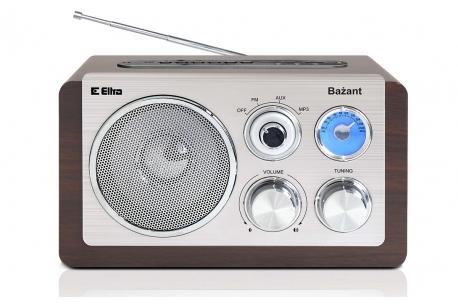 BAŻANT Odbiornik radiowy w drwnianej obudowie MP3 USB model 3388U