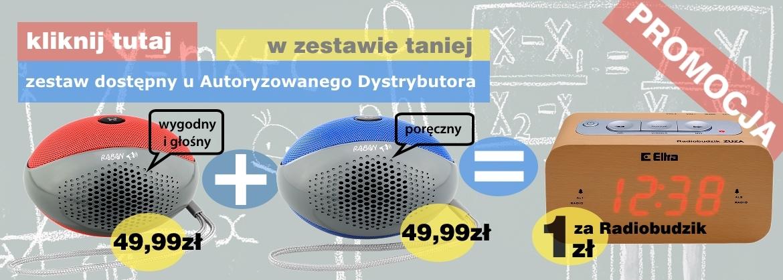 Promocja głośniki Raban plus Radiobudzik Zuza