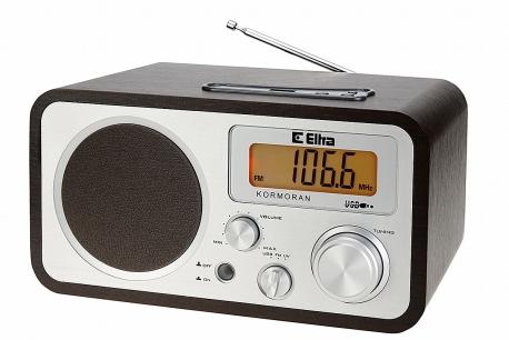 KORMORAN Odbiornik radiowy w drwnianej obudowie MP3 USB model 3388U