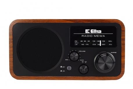 MEWA Odbiornik radiowy w drewnianej obudowie model 3388 czarny