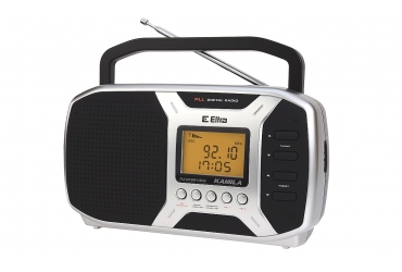 KAMILA Odbiornik radiowy z cyfrowym strojeniem model 450 srebrny