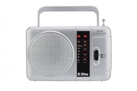 TOLA Odbiornik radiowy model 9708 srebrny