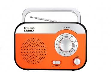 LAURA Odbiornik radiowy model 410 srebrno-pomarańczowy