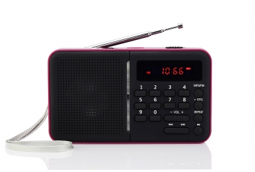 KOLIBER Radio z cyfrowym strojeniem MP3 USB microSD model 523 czarny
