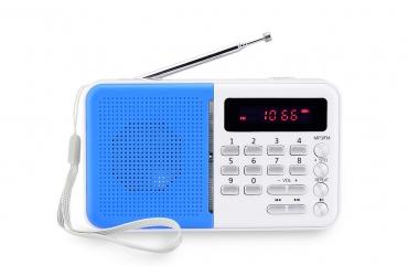 KOLIBER Radio z cyfrowym strojeniem MP3 USB microSD model 523 biało-srebrny