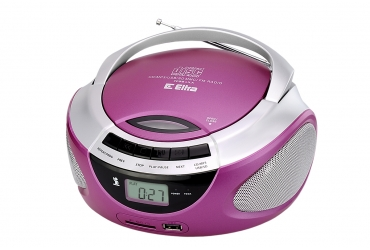 LILA Radioodtwarzacz CD MP3 USB SD model CD98USB różowy