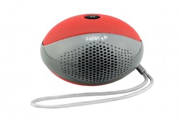 RABAN Głośnik bluetooth MP3 microSD model BT-411 czerwony