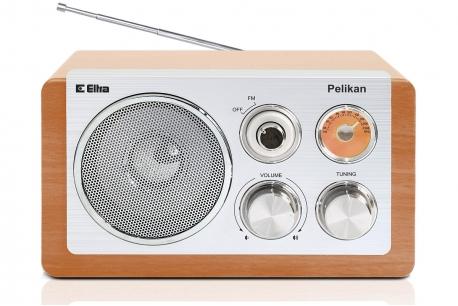 PELIKAN Odbiornik radiowy w drewnianej obudowie obudowa buk