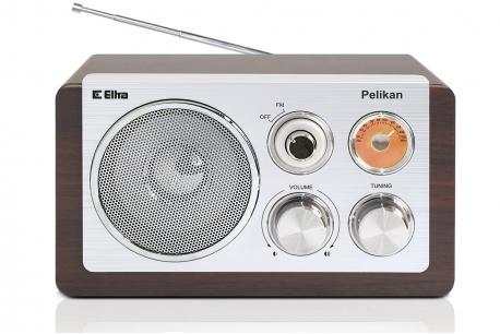 PELIKAN Odbiornik radiowy w drewnianej obudowie obudowa dąb
