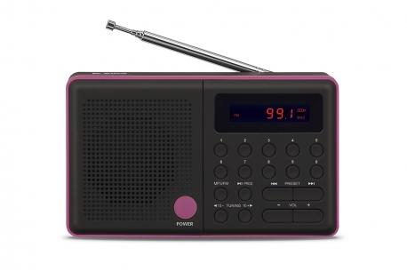 PLISZKA Radio z cyfrowym strojeniem MP3 USB microSD model 211czarny