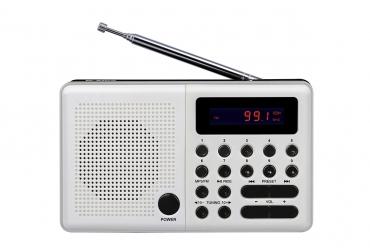 PLISZKA Radio z cyfrowym strojeniem MP3 USB microSD model 211 biały