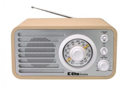 ŚNIEŻKA Odbiornik radiowy w drewnianej obudowie model 3389 srebrny buk