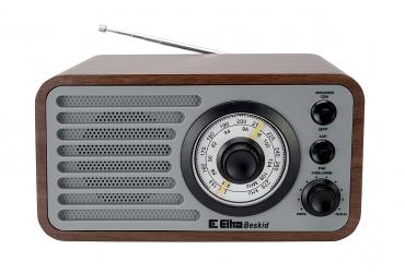BESKID Odbiornik radiowy w drewnianej obudowie model 3389 szary dąb