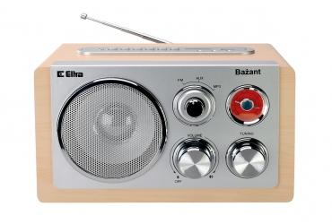 BAŻANT MP3 USB SD Odbiornik radiowy w drewnianej obudowie model UC18 obudowa dąb