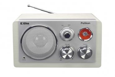 PELIKAN 2 Odbiornik radiowy w drewnianej obudowie model CAL18 obudowa biała