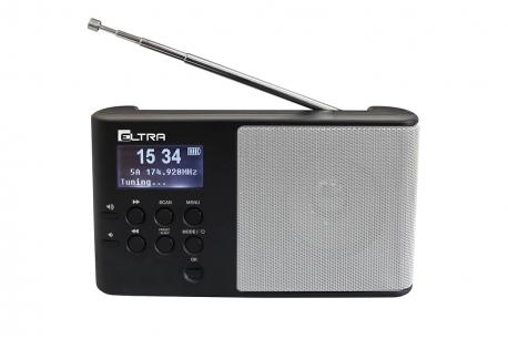 ULA cyfrowy odbiornik radiowy DAB+ FM RDS model 101DAB srebrny